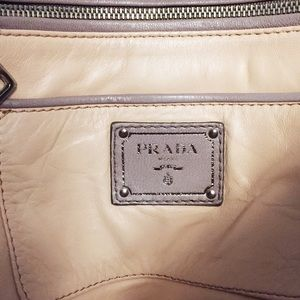 Prada Bags - Prada antique nappa leather oversized clutch bag